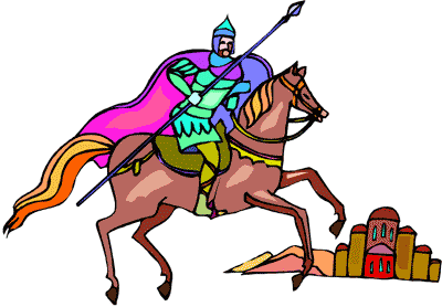 Knight with spear on horse