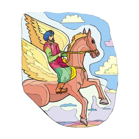 flying horse from 1001 nights