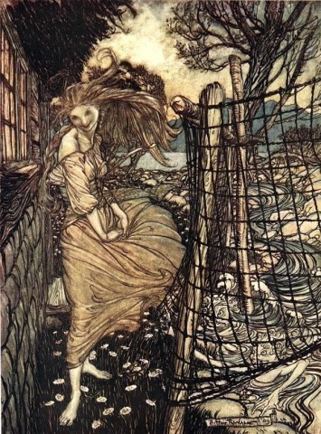 Undine Outside Window by Rackham