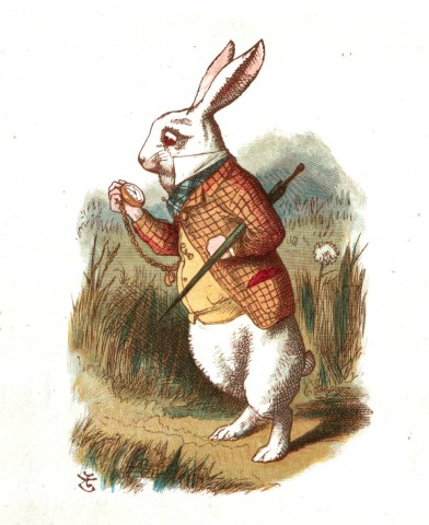 The White Rabbit by Tenniel from Alice in Wonderland