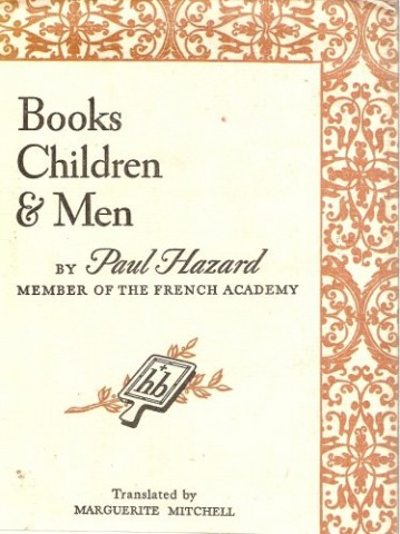 Books, Children and Men by Paul Hazard