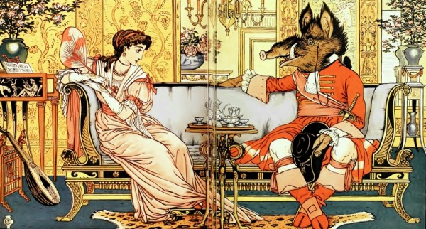 Beauty and the Beast Walter Crane