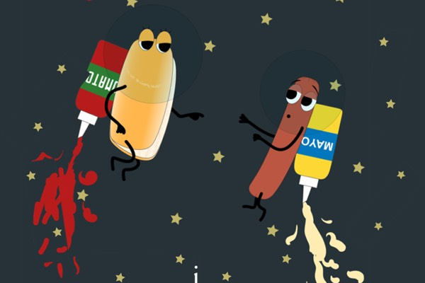 Hotdog in space