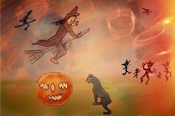 Witches Fly Song for Halloween