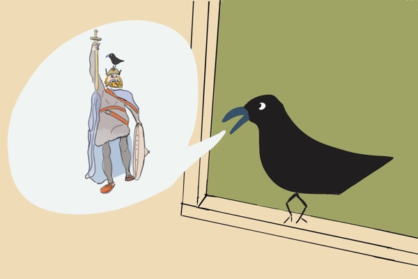A crow and king alfred