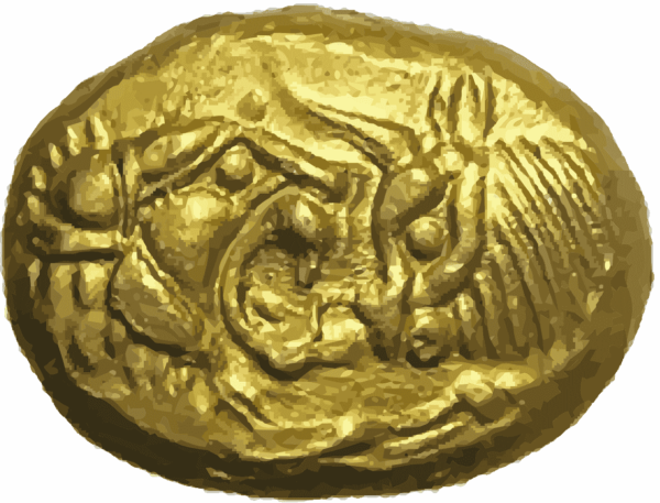 Lydian gold coin time of Croesus