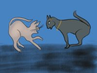 Egypt Cat Fight by Bertie on Storynory