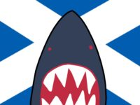 Scottish Shark with St Andrew Flag