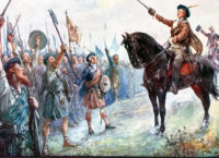 Bonnie Prince Charlie rallies the clans in 1745 for the rebellion