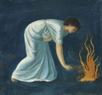 Burne Jones Hero Lights a fire